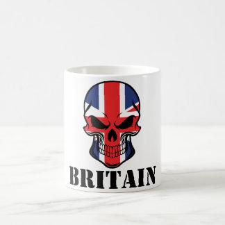 British Flag Skull Britain Coffee Mug