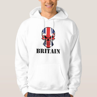 British Flag Skull Britain Hoodie