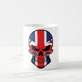 British Flag Skull Coffee Mug
