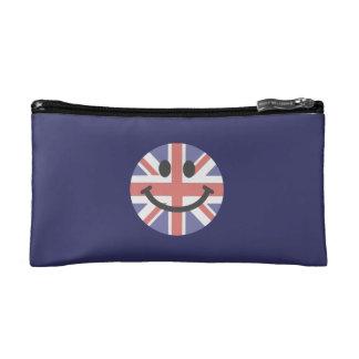 British Flag Smiley face Makeup Bags