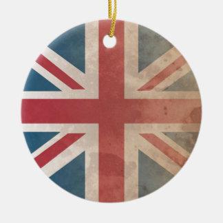 British Flag, (UK, Great Britain or England) Ceramic Ornament