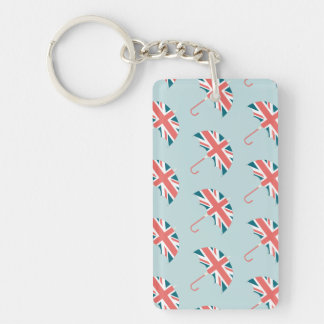 British Flag Umbrella Pattern Keychain