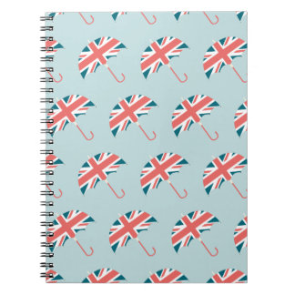 British Flag Umbrella Pattern Notebook