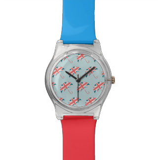 British Flag Umbrella Pattern Watch
