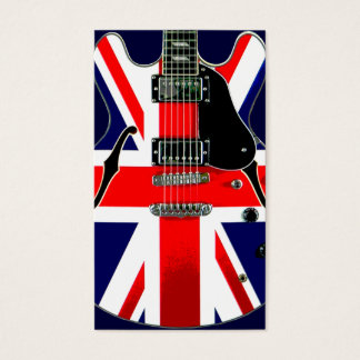 British Flag Union Jack Guitar Business Card