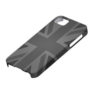 British Flag (Union Jack) in Black Case For The iPhone 5