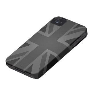 British Flag (Union Jack) in Black iPhone 4 Case-Mate Case