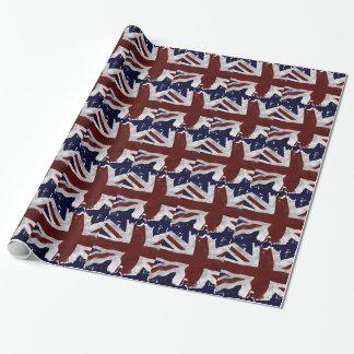 British Flag, Union Jack, Patriotic Design Wrapping Paper