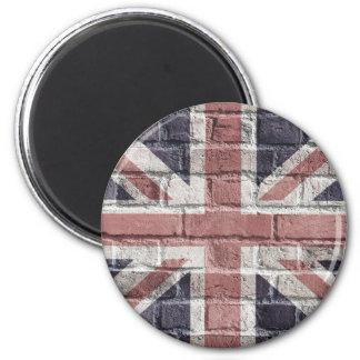 British Flag, Union Jack - UK (Magnet) 2 Inch Round Magnet