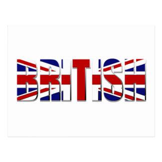 British flag United Kingdom England Wales Scotland Postcard