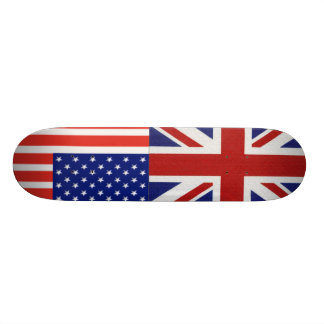 british-flag, us-flag skateboard
