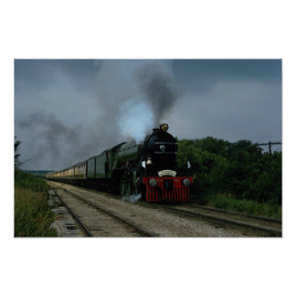 "British ""Flying Scotsman"" on tour near Parsons, KS Poster"