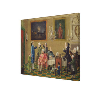 British gentlemen at Sir Horace Mann's home in Flo Stretched Canvas Prints