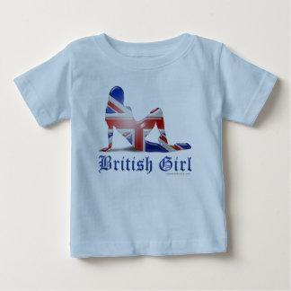 British Girl Silhouette Flag T Shirts