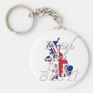 British Girls Do It Best! Basic Round Button Keychain