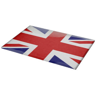 British glossy flag cutting board