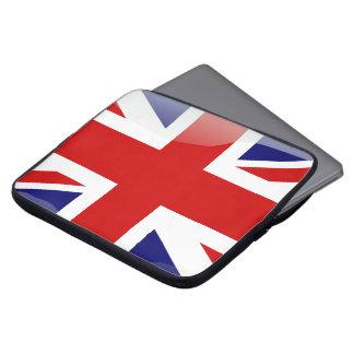 British glossy flag laptop sleeve