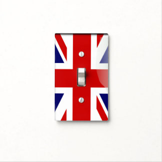 British glossy flag light switch cover