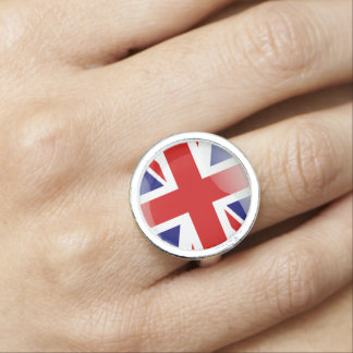 British glossy flag photo ring
