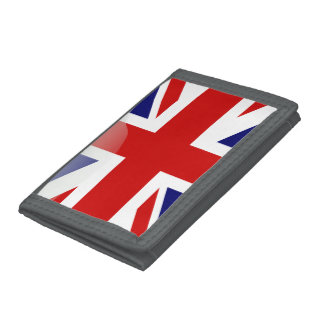British glossy flag trifold wallets