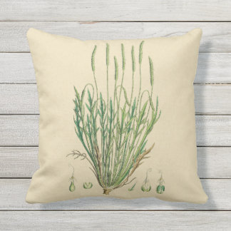 British Grasses Botanical Outdoor Pillow 16x16