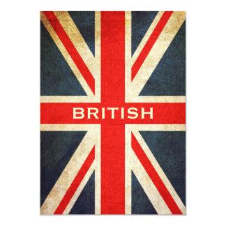 British Grunge Union Jack Invitation (Vertical)