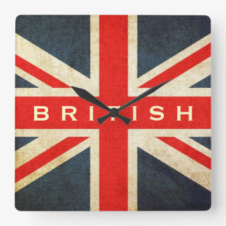 British Grunge Union Jack Mod Wall Clock