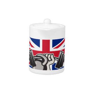 British Hand Lift Barbell Kettlebell Union Jack Fl
