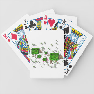 british hedge hogs bicycle playing cards