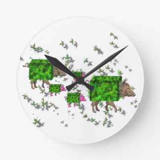 british hedge hogs round clock