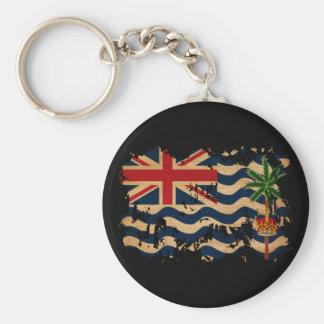 British Indian Ocean Territories Flag Basic Round Button Keychain