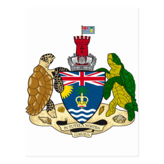 British Indian Ocean Territory Coat of arms IO Postcard