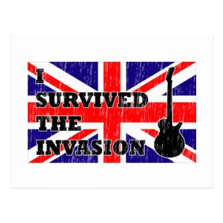 British Invasion Postcard