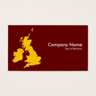 British Isles - Amber and Dark Maroon Business Card