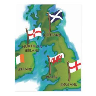 British Isles and Ireland Postcard