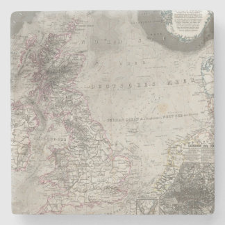 British Isles and surrounding sea Stone Coaster
