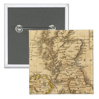 British Isles, Asia 2 Inch Square Button