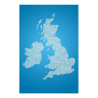 British Isles is the Word Poster