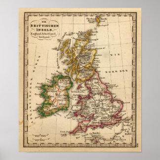 British Isles Map Poster