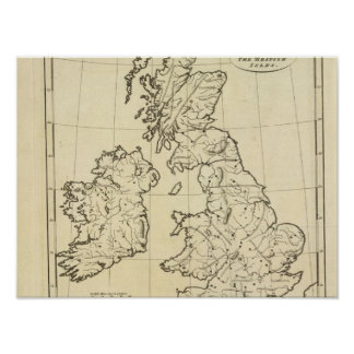 British Isles outline map Poster