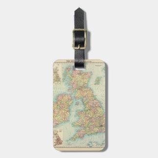 British Isles - political. Luggage Tag