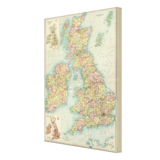 British Isles political map Canvas Print