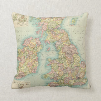 British Isles political map Throw Pillow