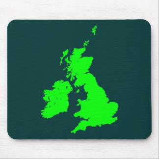 British Isles - Shades of Green Mouse Pad