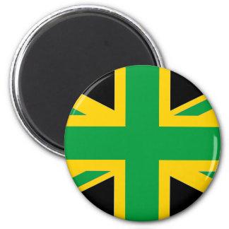 British - Jamaican Union Jack 2 Inch Round Magnet