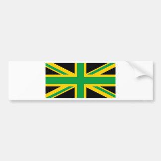 British - Jamaican Union Jack Bumper Sticker