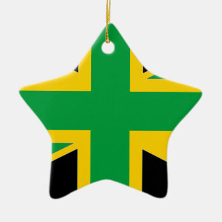 British - Jamaican Union Jack Ceramic Star Ornament