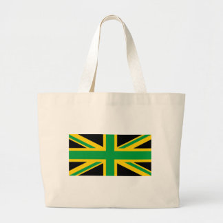 British - Jamaican Union Jack Large Tote Bag