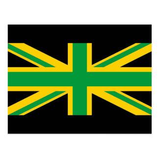 British - Jamaican Union Jack Postcard