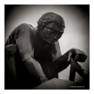 British Library Statue - Toy camera photograph Poster